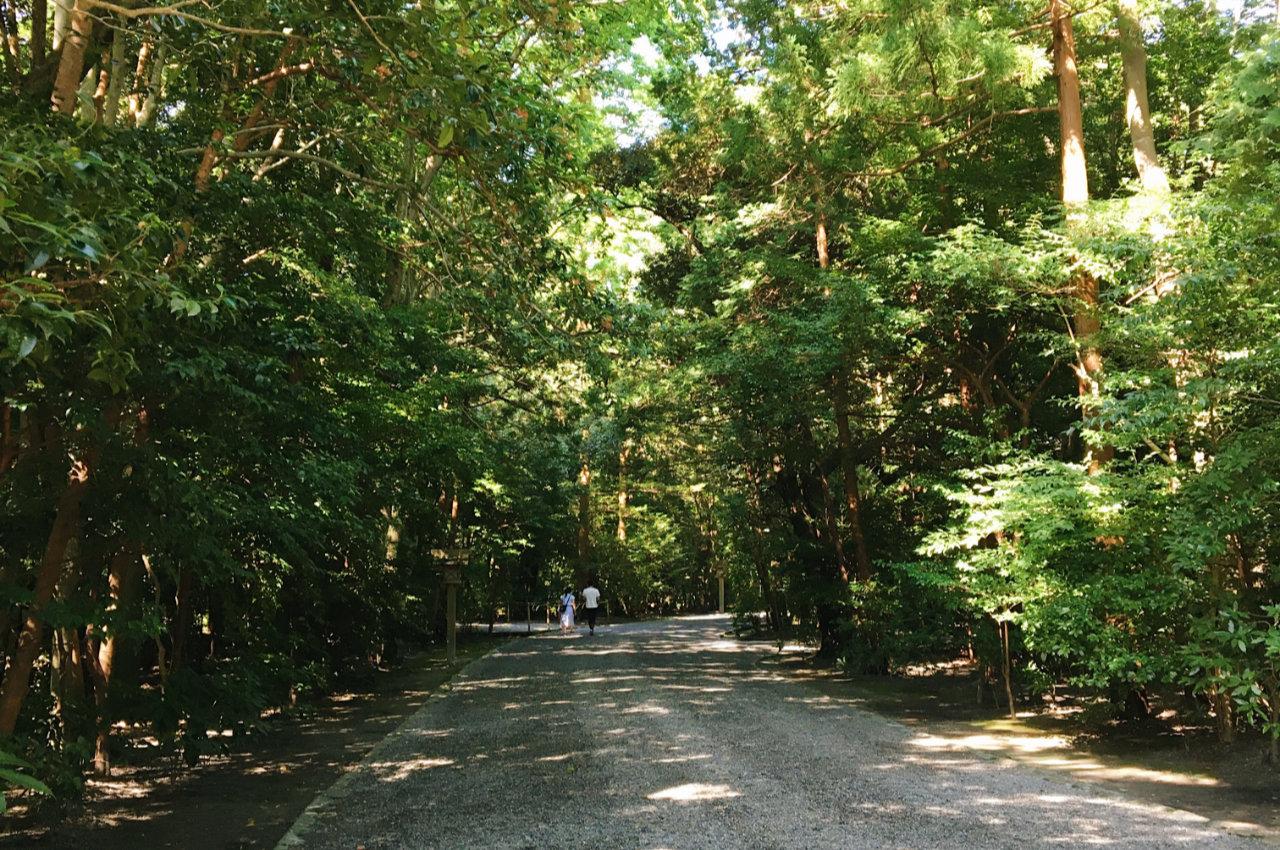 外宮神域の通路